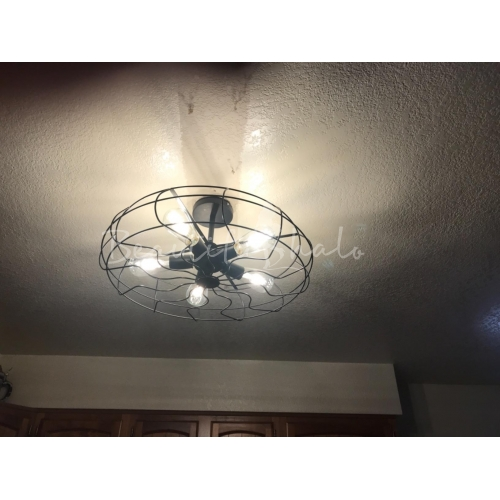 Led Light Fixture Too Bright: Retro 5 Light Hanging Fan Shape LED Ceiling Fixture In